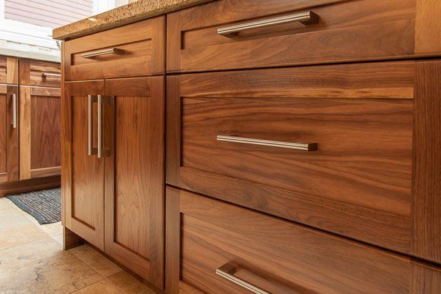 Walnut shaker drawer fronts
