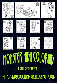 227 best Monster High Coloring images on Pinterest  Monsters
