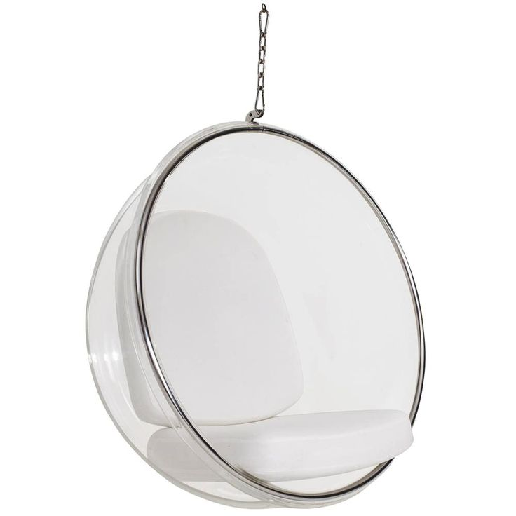 fauteuil suspendu bubble chair coussin blanc