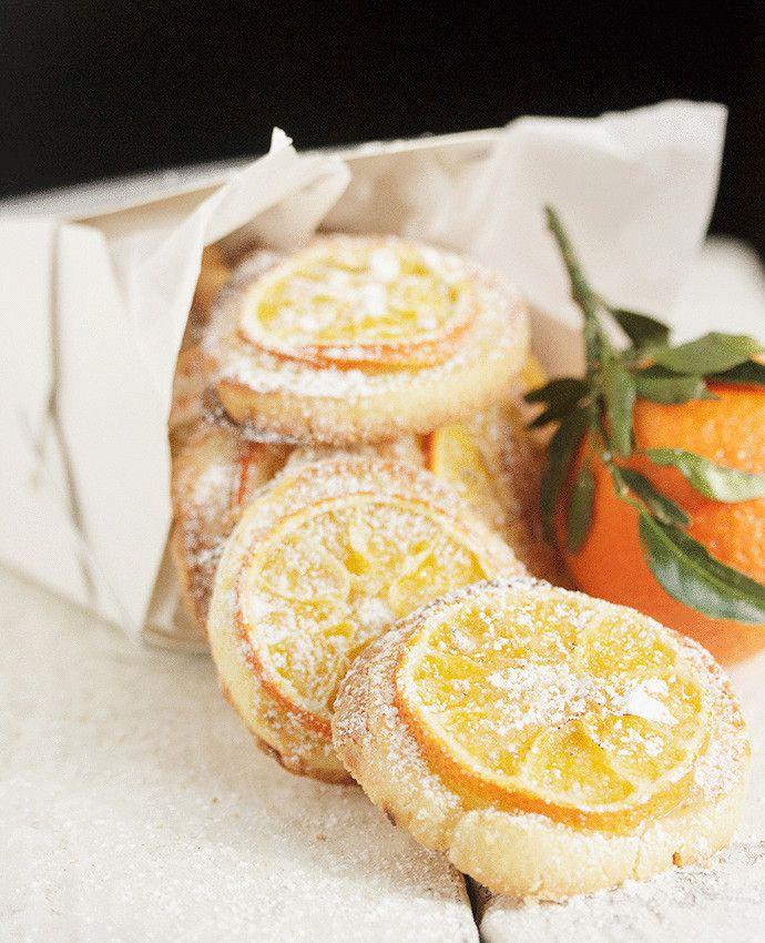 Апельсиновое печенье  из миндальной муки