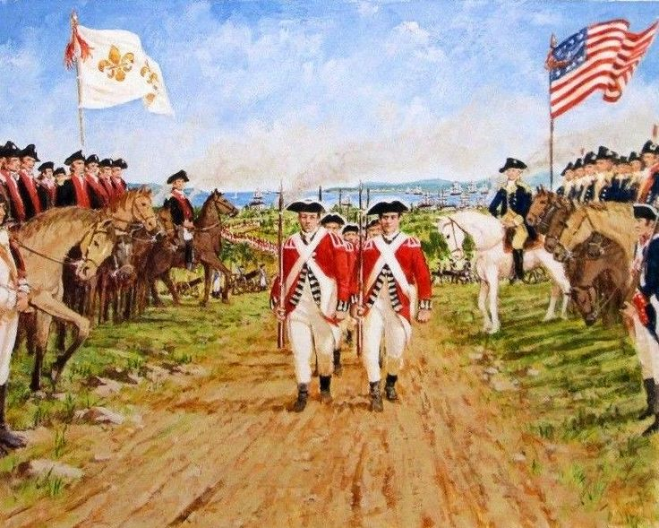 General Cornwallis surrenders to Washington