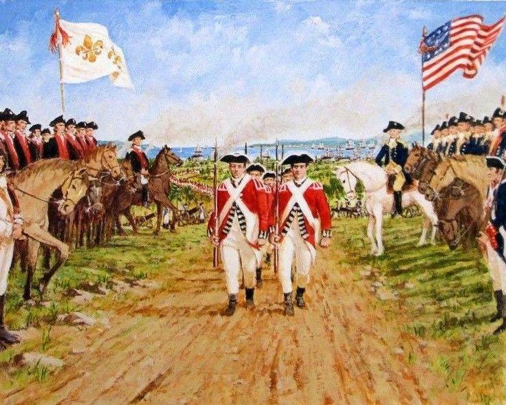 General Cornwallis surrenders to Washington
