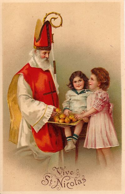 St Nicholas - many Dutch people remind him of 'Sinterklaas'. St Nicholas was a bishop that helped the poor and sick by giving food and giving medicine.