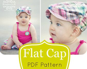 Kids Newsboy Hat PDF Pattern - Girls or Boys Flat Cap 6 Months to Pre-Teen - Childrens Hat Sewing Pattern