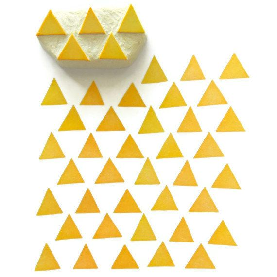 Modern Triangles Pattern Rubber Stamp Cling Rubber by creatiate, $9.00