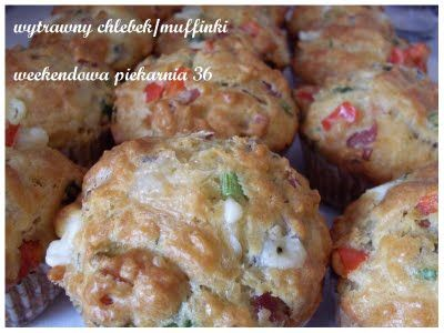 pikantny chleb, tylko że muffinki