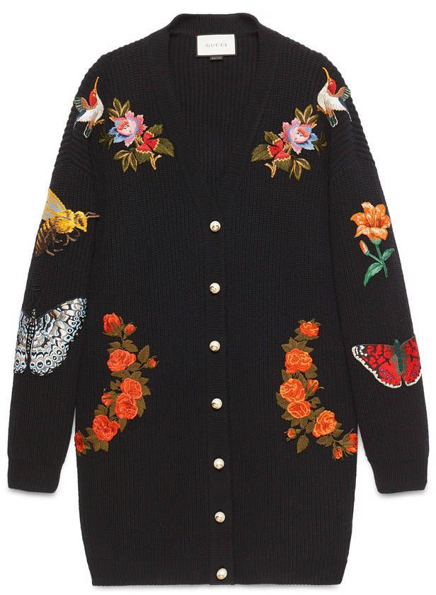 Follow me // sophiekate... ℓσνєѕ ღ Gucci Oversize embroidered wool cardigan
