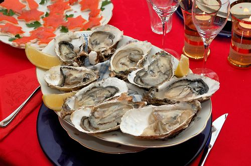 Fresh oysters shucked to order. / Appetizer  Finger Food Recipes