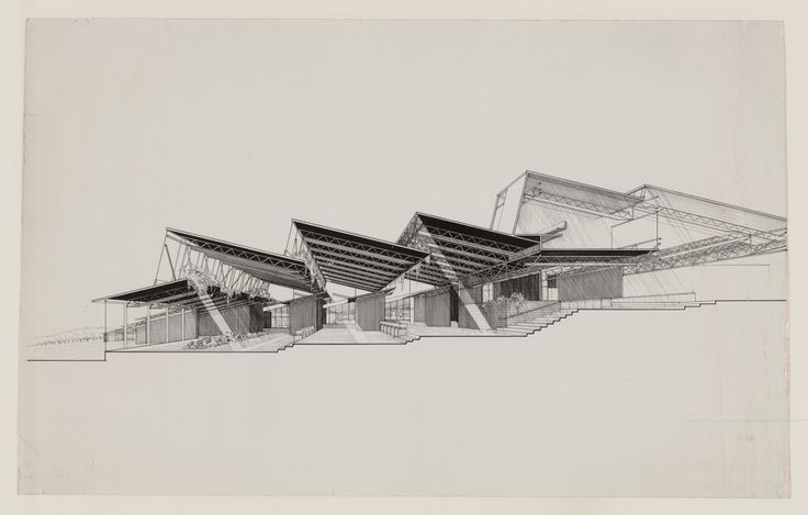 [Chorley Elementary School, Middletown, New York. 1964, Perspective section]