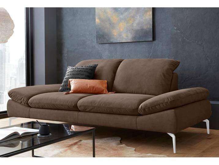 W Schillig Couch Enjoy More Braun B H T 232x45x54cm Mit Sitztiefenverstellung Hoher Sitzkomfort Sofa 3 Sitzer Sofa Wohnen