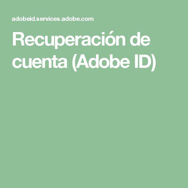 Recuperación de cuenta (Adobe ID)