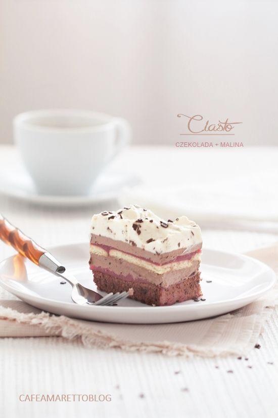 Cafe Amaretto: Ciasto czekoladowo-malinowe