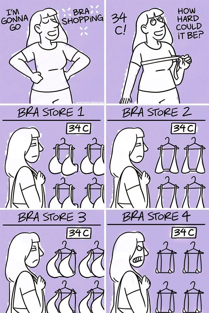 Relatable funny bra problems