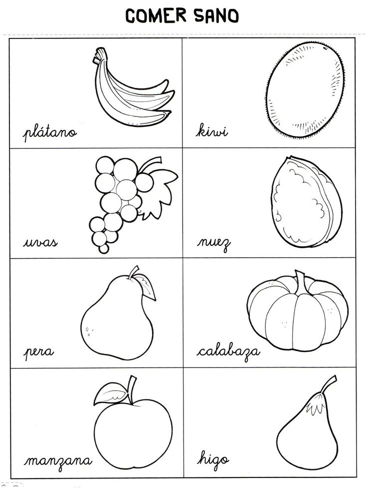 Ms de 25 ideas increbles sobre Frutas para colorear en Pinterest