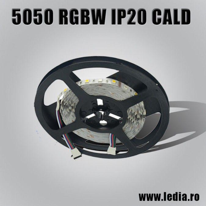 BANDA LED RGBW  5050 ALB CALD IP20