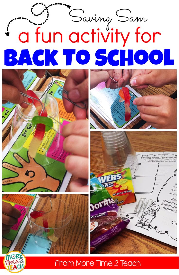 Are you looking for a fun activity to keep your kids engaged during the first week back? Saving Sam is an exciting Back to School activity that is pretty simple to set up and will have your students problem solving with a team. Great work building class community and working on those teamwork skills. This is sure to be a hit with your students!