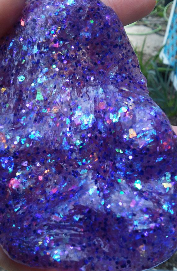 Purple Glitter Slime Opal Holographic Iridescent Unicorn Clear