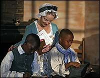 Colonial Williamsburg!  I never tire of visiting there.  This image comes from the official Colonial Williamsburg website, and depicts Ann Wager, appointed mistress of the Bray School for African American children in Williamsburg in 1760.: African Americans, Appoint Mistress, Bray Schools, Anne Wager, Africans American, Depict Anne, Colonial Williamsburg, Beautiful Children, American Children