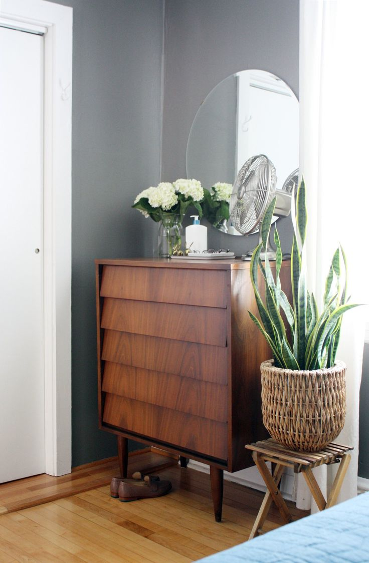 walnut highboy // graphic modern