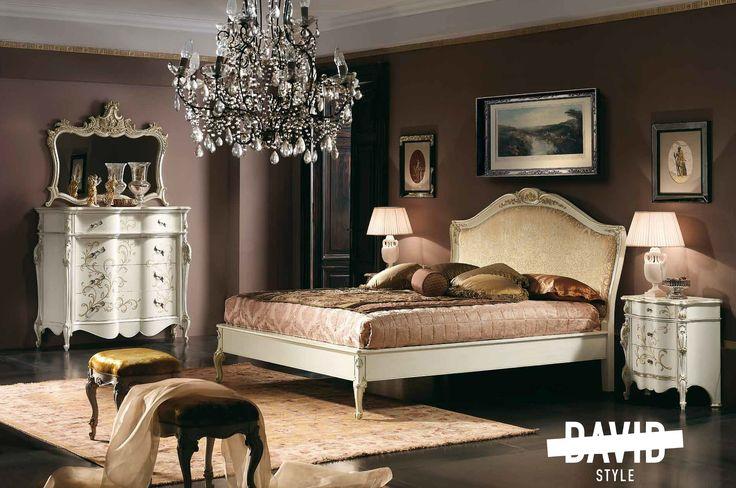Baroque bedroom made in Italy Camera da letto barocco #BaroquebedroommadeinItaly #cameradalettobarocco #italianfurniture