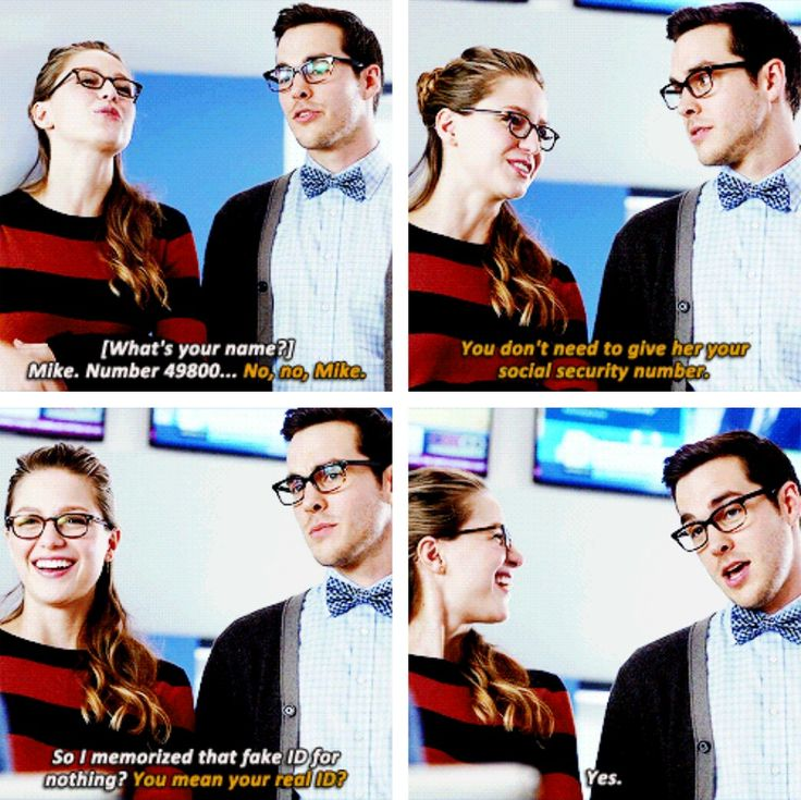 """""""You don't need to give her you social security number"""" - Kara and Mon-El #Supergirl"""