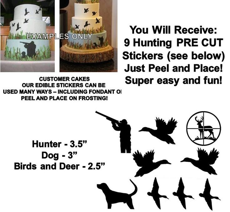 Duck Hunting Edible Pre Cut Stickers, Hunting Decals for Cakes, Hunting Cut Out Stickers, Bird Hunting Cake, Hunting Cake, Edible Stickers by EdiblePartyImages on Etsy