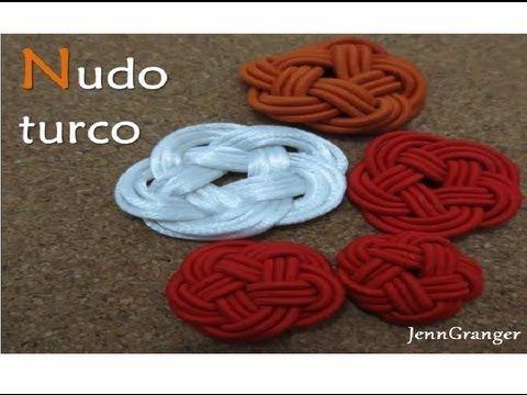Nudo turco. Nudo celta. (Turkish knot. Celtic Knot) Macramé.