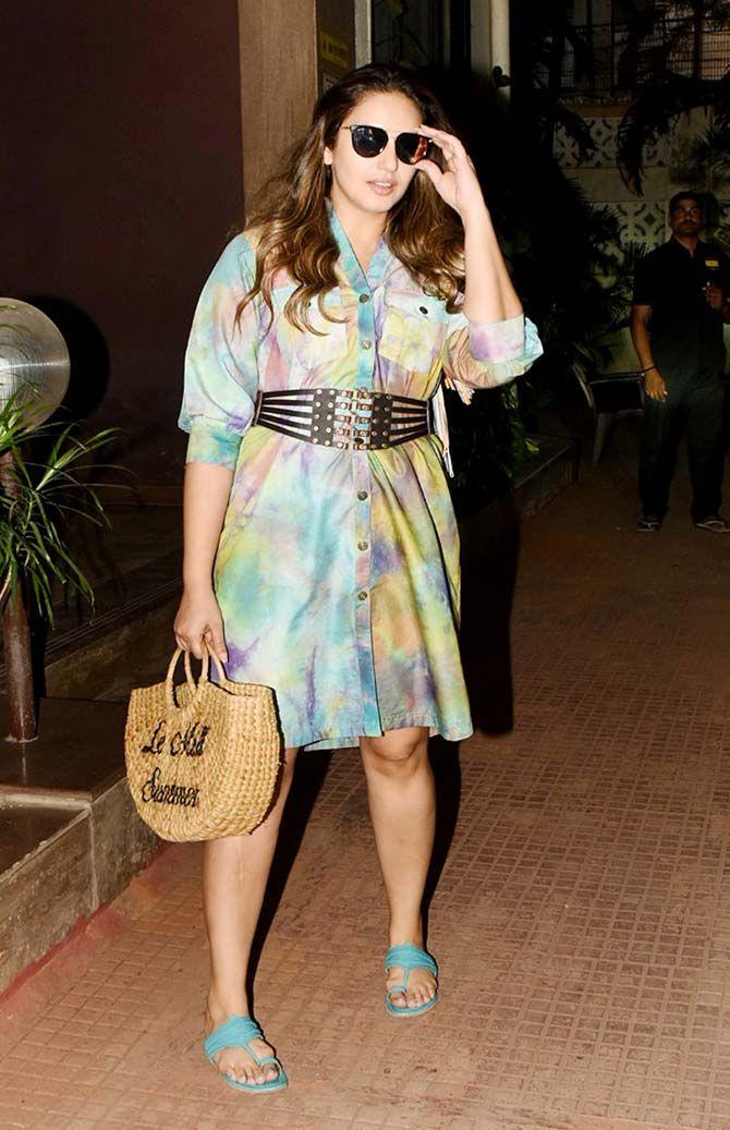 Huma Qureshi stuns in tie-dye shirt dress; Shraddha Kapoor's casual outing  - entertainment | Shirt dress, Dresses, Dye shirt