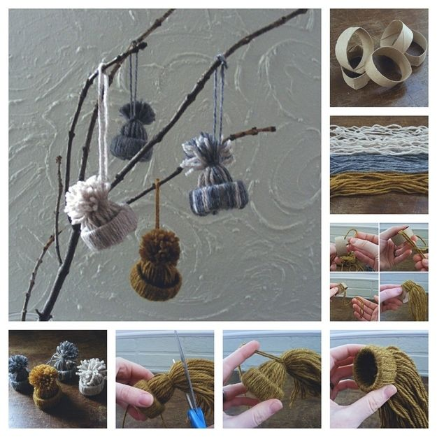 Might make these for myself, for a gift, or in my classroom- Mini Hat Ornaments
