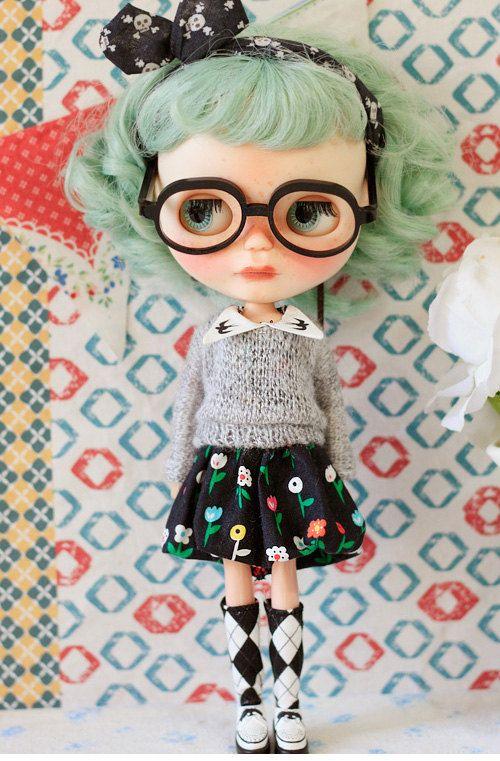 Sugarbabylove Black Dress set for Blythe by SugarbabyloveDoll