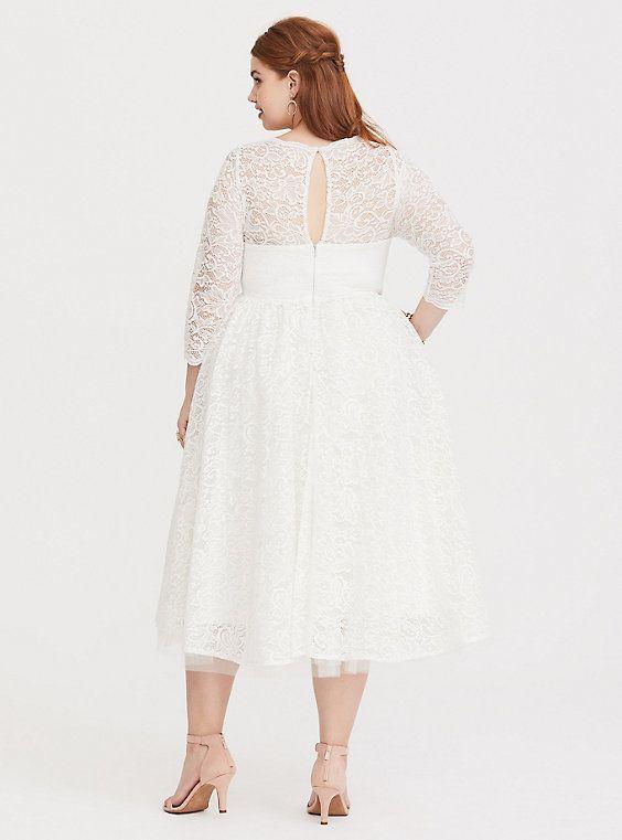 9dba90447d1c Special Occasion White Lace Midi DressPlus Size Special Occasion White Lace  Midi Dress, CLOUD DANCER