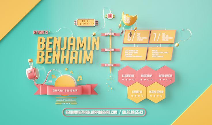 cv créatifs, cv original, recherche d'emploi, jeune diplômé, cdi, stage, alternance, recrutement, cv gratuit, template de cv, benjamin benhaim
