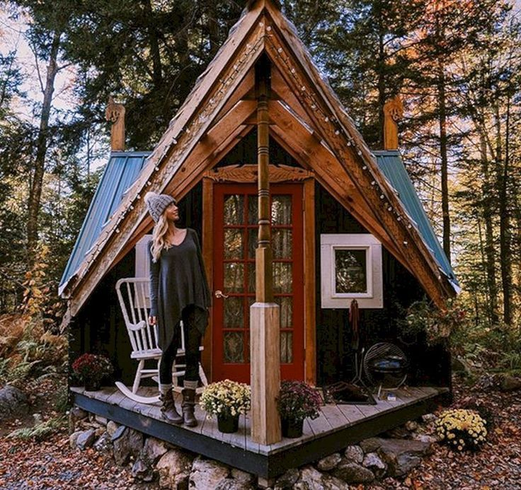 15 Awesome Tiny House Design Ideas For Your Family House In The Woods Tiny House Design Tiny House Cabin