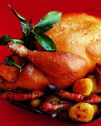 Roast turkey with spiced cranberry, bacon and walnut stuffing # ...