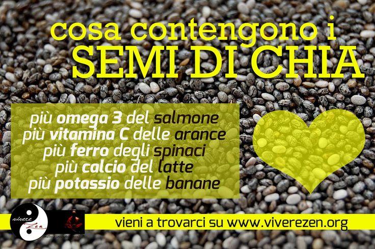 Lo sapevi che i #Semi di #Chia contengono più #calcio del #latte e più omega 3 del salmone? ...e non solo! vieni a scoprirlo sul nostro sito www.viverezen.org!
