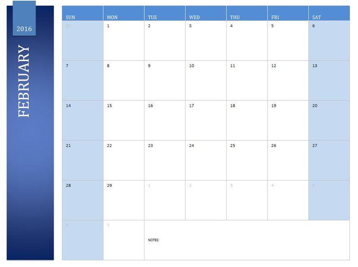 February 2016 Calendar With Holidays