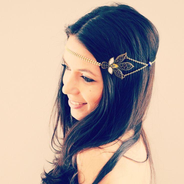 headband collier jaune fleurs v g tales headband collier mes tites lilis pinterest. Black Bedroom Furniture Sets. Home Design Ideas