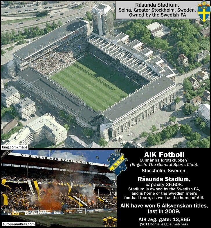 Rasunda Stadium, home of AIK Solna and Sweden.