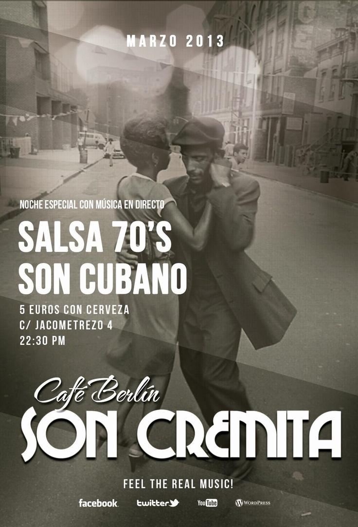 Son cremita te invita a la salsa Jam de los martes en el café Berlín, de Madrid, a las 22.30 h