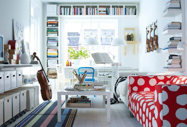 Those Shelves That Couch And A Cello I Think Awesome For The Home Pinterest Book Storage Ikea Ideas And Cello