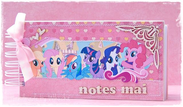 """Notebook with """"My Little Pony - Friendship is Magic"""" for my daughter"""