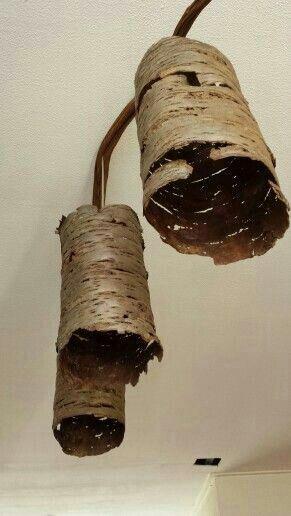 Lamp van boomschors door Geert-Jan Habraken