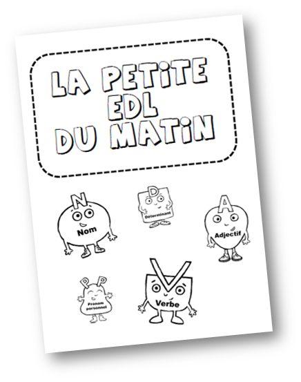 Teacher Charlotte: Rituel de Grammaire et de Conjugaison: La petite EDL du matin