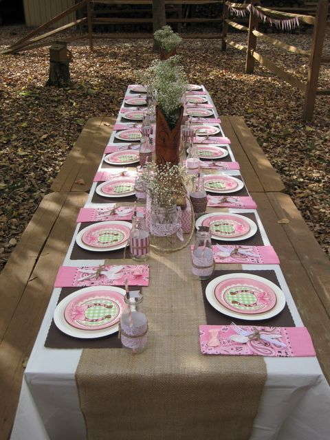 """Photo 11 of 47: Pink cowgirl / Birthday """"Ashtyn's Outdoor Cowgirl Party"""" 