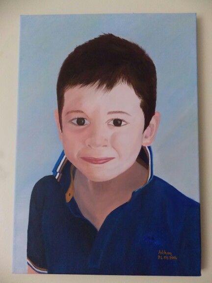 Mayıs 2014 yağlı boya darling child portre