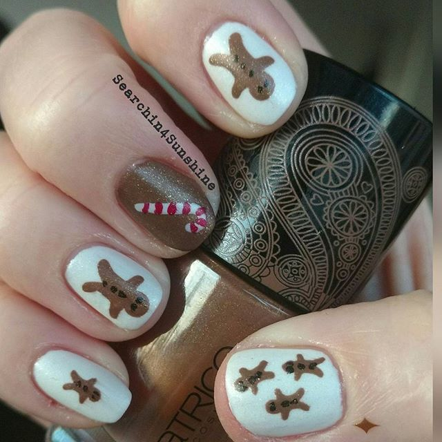 #essence #winterwonderful #thefrosted und #catrice #bohemia #yesyoutan mit #nailvinyls von #svenjasnailart  #essencecosmetics #essence_cosmetics #catricecosmetics #catrice_cosmetics #lebkuchenmann #gingerbreadman #nailpolish #nagellack #naillacquer#instanails #nailswag #nailsdone #manicure #notd #nailporn #nailsoftheday #nails #nägel #instapic #nailsofinstagram #nailart #nailinspiration