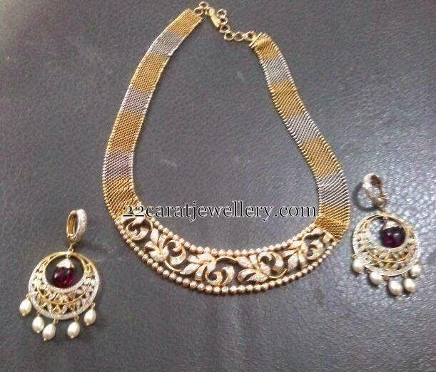 Jewellery Designs: Fancy Diamond Set with Chandbalis