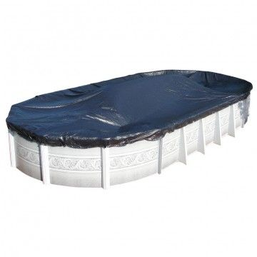 12' x 18' Oval Solid Winter Pool Cover - 10 Year Warranty for Sale - Doheny's Discount Pool Supplies