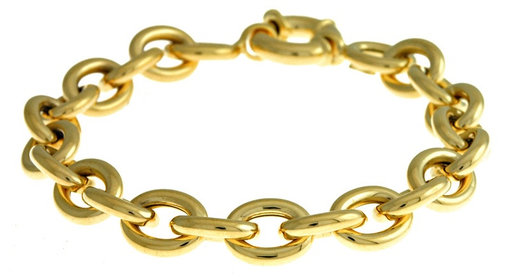 Diamond Jewellers :: 14KT Yellow Oval Link 10.5mm