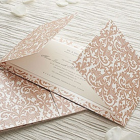 Vintage Fleur De Lys Gatefold Invitation DIY Kit